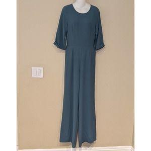 Lulu's Jumpsuit Slate Blue Size Medium